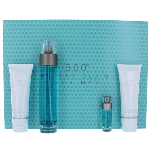 Perry ellis 360 by perry ellis 4 piece gift set for men for Bathroom sets for men